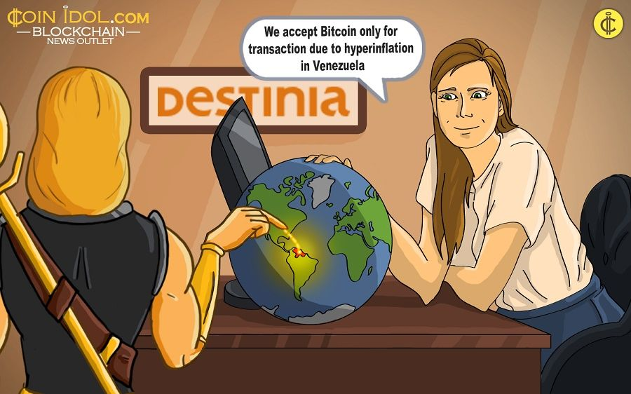 Destinia, a Venezuelan online travel agency, will now only accept Bitcoin for payment