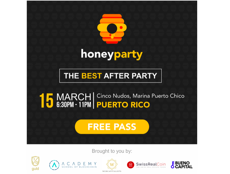 Cryptocurrency Honey Party in Marina Puerto Chico