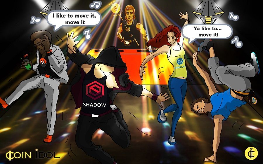 Altcoin party: Monero, ShadowCash, Storj, and Bitshares move it.