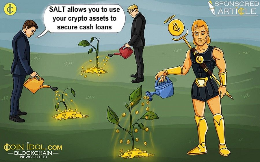 SALT allows you to use crypto assets to secure cash loans