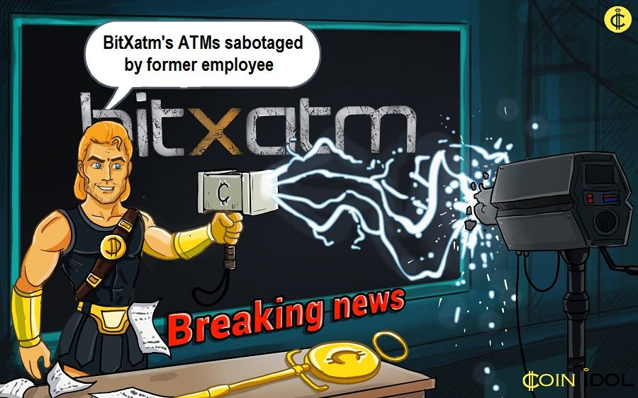 BitXatm Network was sabotaged by a former employee