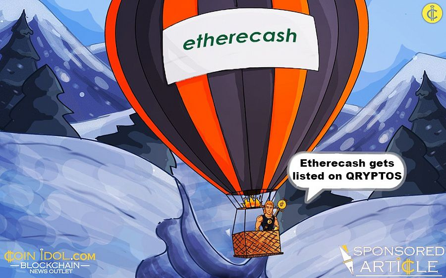 Etherecash gets listed on QRYPTOS