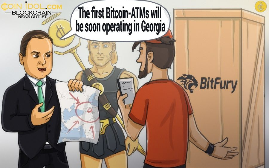 Ephrem Urumashvili, CEO of BitFury Group plans to install two Bitcoin ATMs in Georgia.