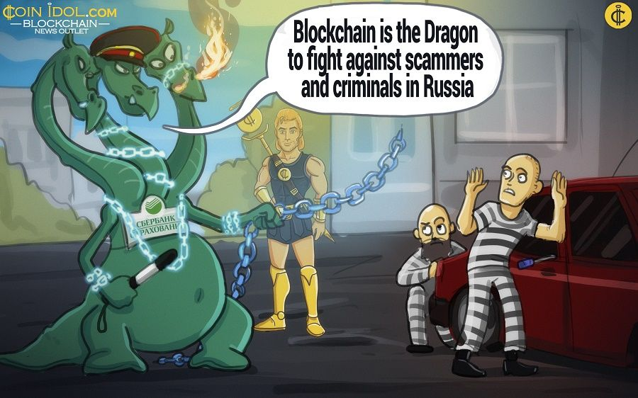 """Sberbank of Insurance"" and Blockchain as a dragon warrior against criminals in Russia."