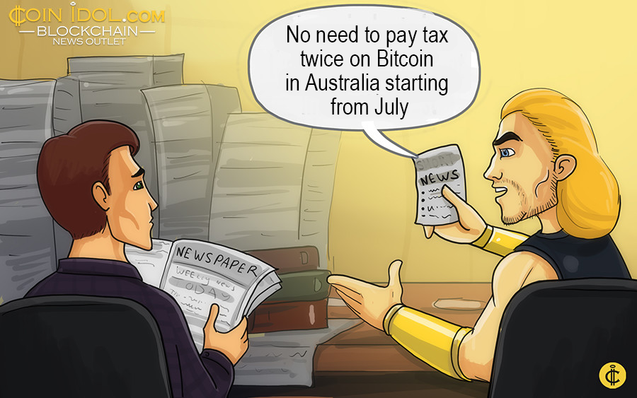 The Australia decided to drop the goods and services tax (GST) on Bitcoin.