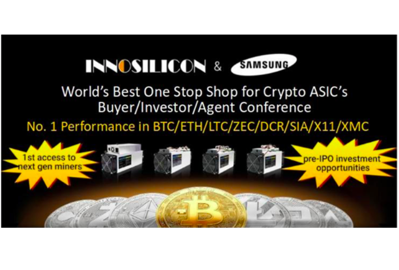 Innosilicon is the worldwide one stop shop industry leader in high-speed interface IP and cryptography mining ASIC Miners for Bitcoin, Litecoin, Ethereum, ZCash, Decred, SIA, Dash, Cryptonight and other leading digital currencies.