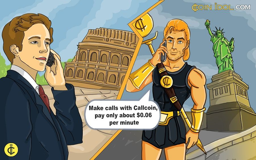 Making a call from USA to Italy using Callcoin Telegram bot