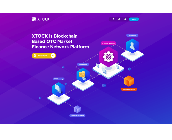Blockchain OTC trading platform 'Xtock' has officially announced the launch of it's 'teaser' website, a first of it's kinda for the Asian region.