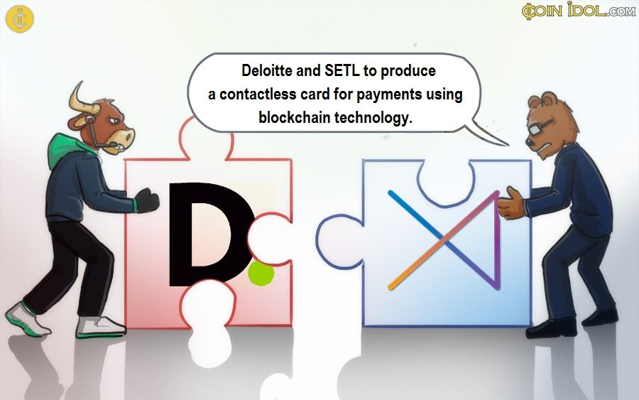 Deloitte has collaborated with SETL to produce a contactless card for payments using blockchain technology.