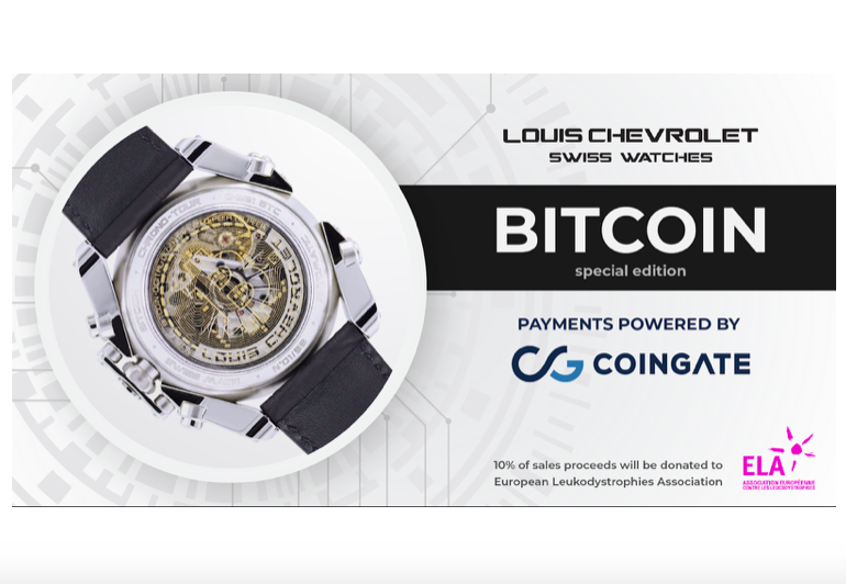 CoinGate and Louis Chevrolet Swiss Watches unite forces