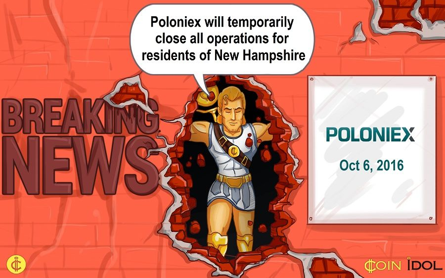 Breaking news on CoinIdol.com: New Hampshire's regulations against Poloniex