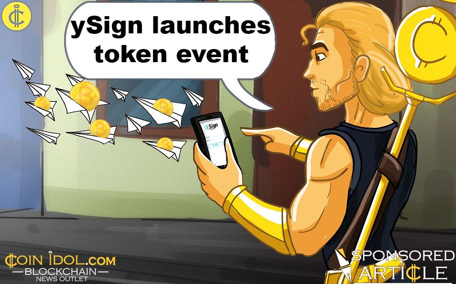 ySign launches token event