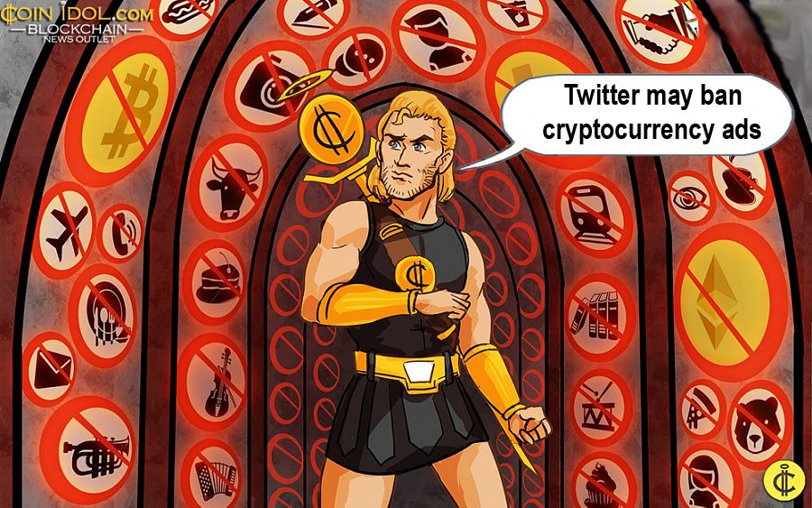 Twitter may ban cryptocurrency ads