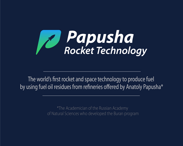 For the worldwide distribution of this technology the Papusha Rocket Technology Token Sale, which has no analogues in the world, was launched.