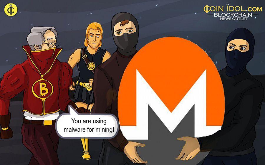 Monero mined through malware