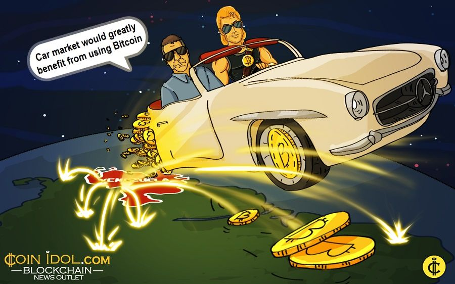 Acceptance of Bitcoin among car resellers continues to rise in cash strapped Venezuela