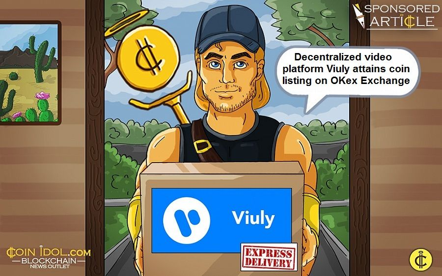 Viuly attains coin listing on OKex Exchange