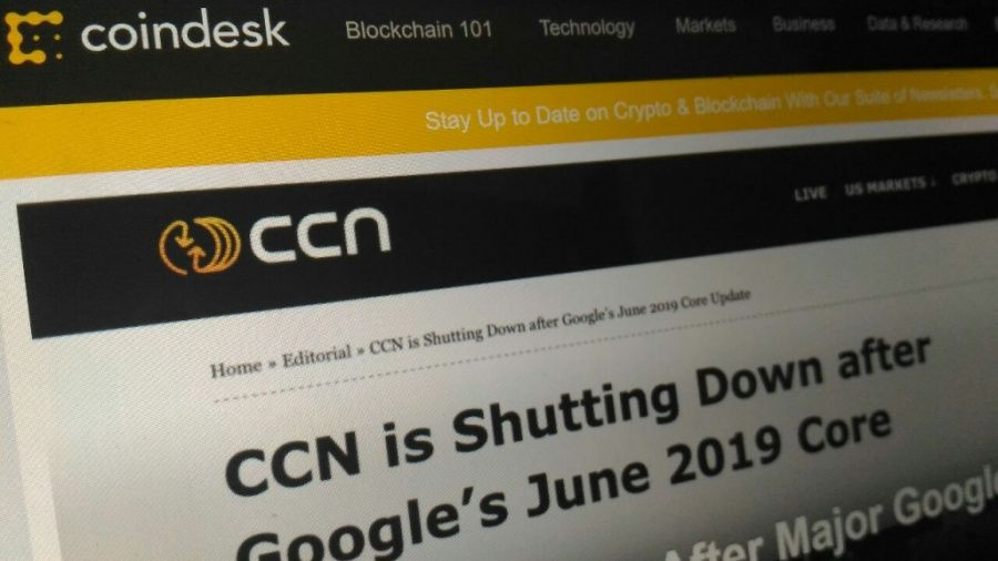 CCN shuts down, news by CoinDesk
