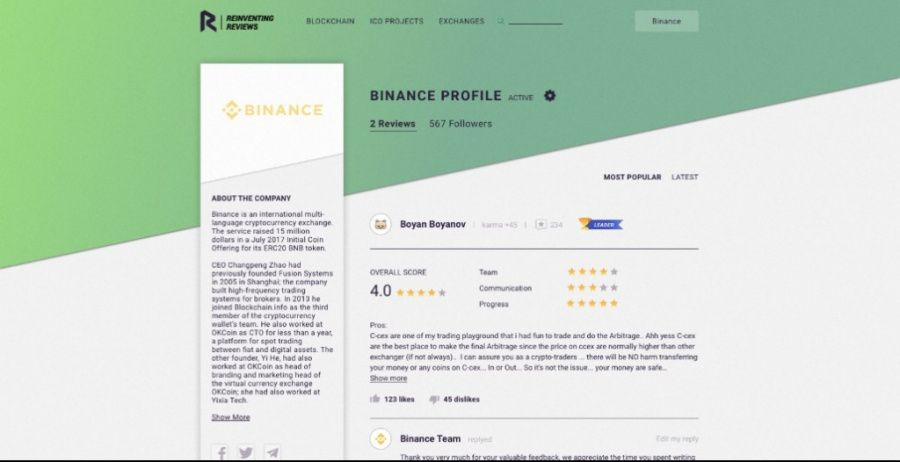 Binance Profile