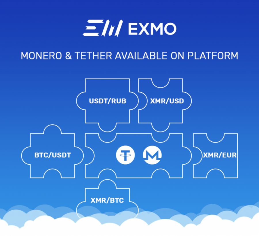 Monero and Tether on EXMO