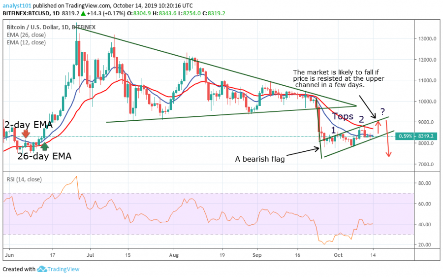 BTC Price, October 14, 2019