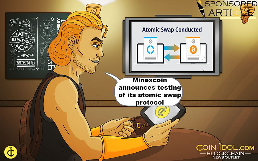 Minexcoin announces testing of atomic swap protocol