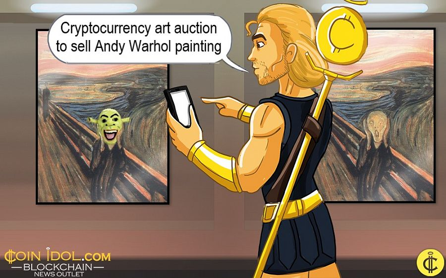 Cryptocurrency art auction
