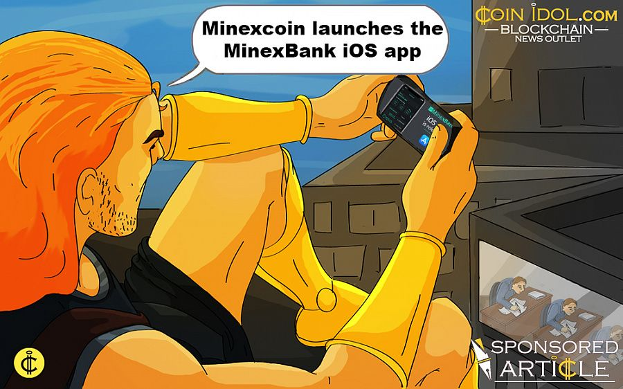 Minexcoin launches the MinexBank iOS App