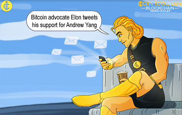 Bitcoin Advocate Elon Musk Shows Support for Andrew Yang