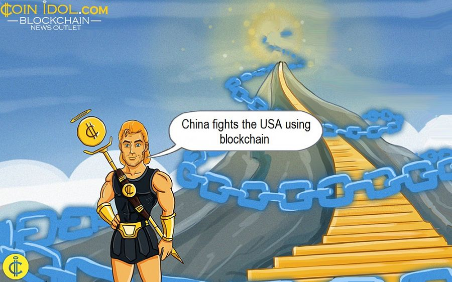 China fights the USA using blockchain