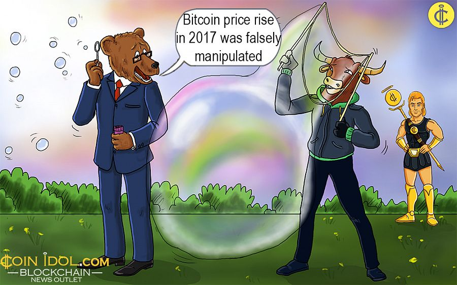 Bitcoin price rise falsely manipulated