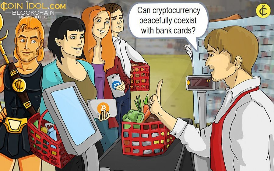 Can cryptocurrency peacefully coexist with bank cards?