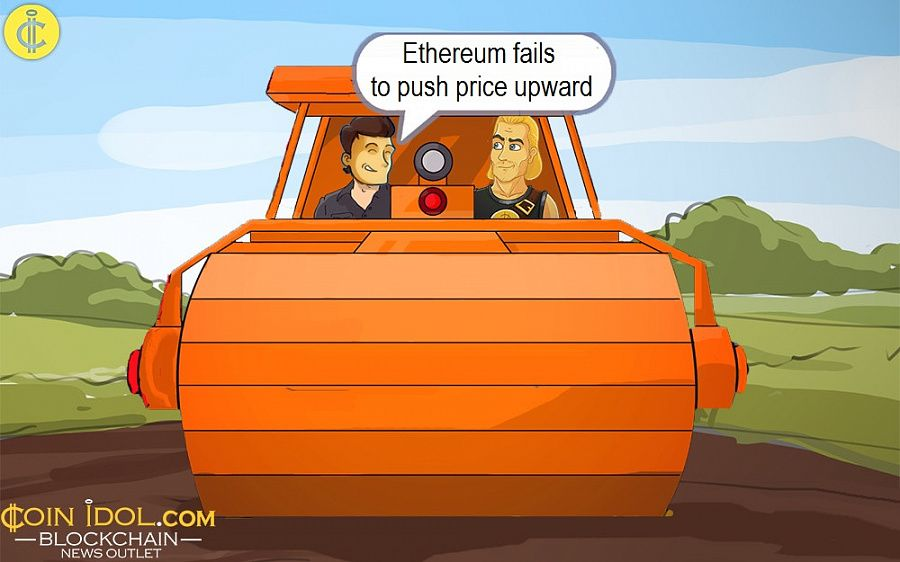 Ethereum fails to push price upward