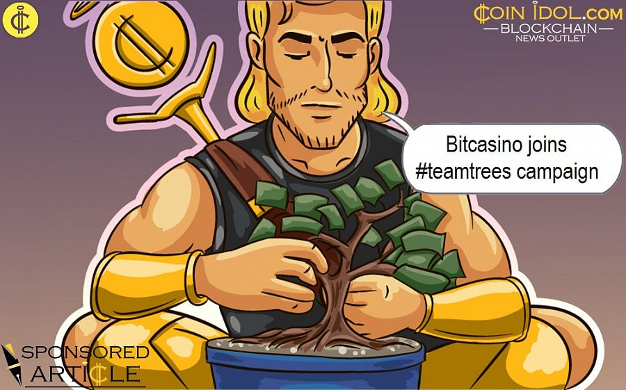 Bitcasino joins #teamtrees campaign
