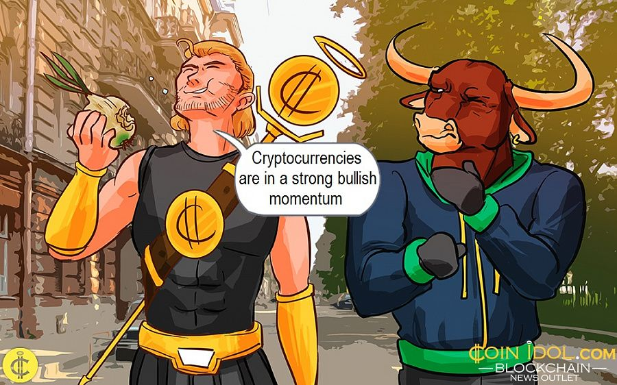 Cryptocurrencies are in a strong bullish momentum