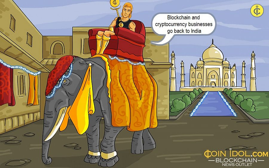 Blockchain and cryptocurrency businesses go back to India
