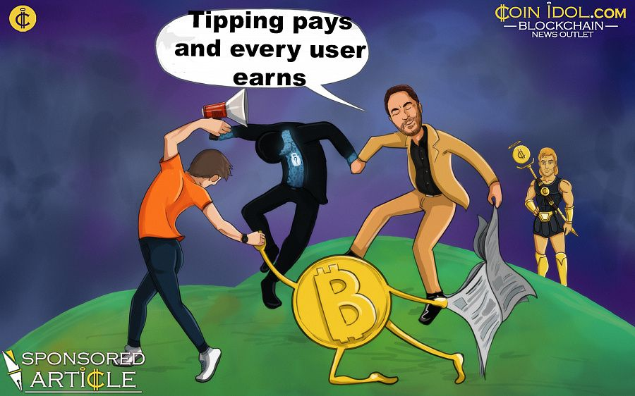 Tipping pays and every user earns