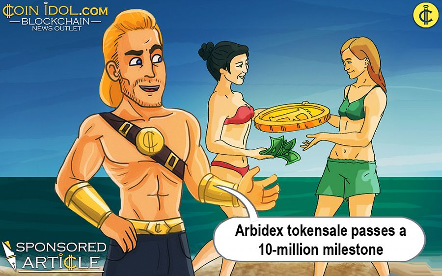 Arbidex token sale passes a milestone