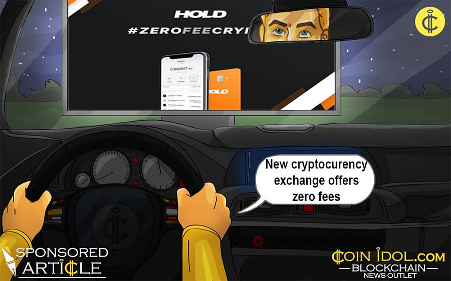 Cryptocurrency exchange with zero fees