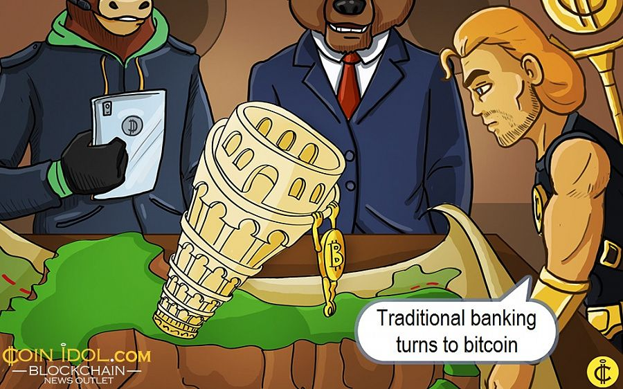 Traditional banking turns to bitcoin
