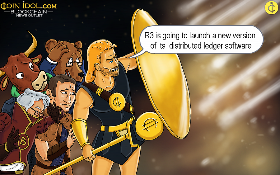 R3 is going to launch a new version of its distributed ledger software.