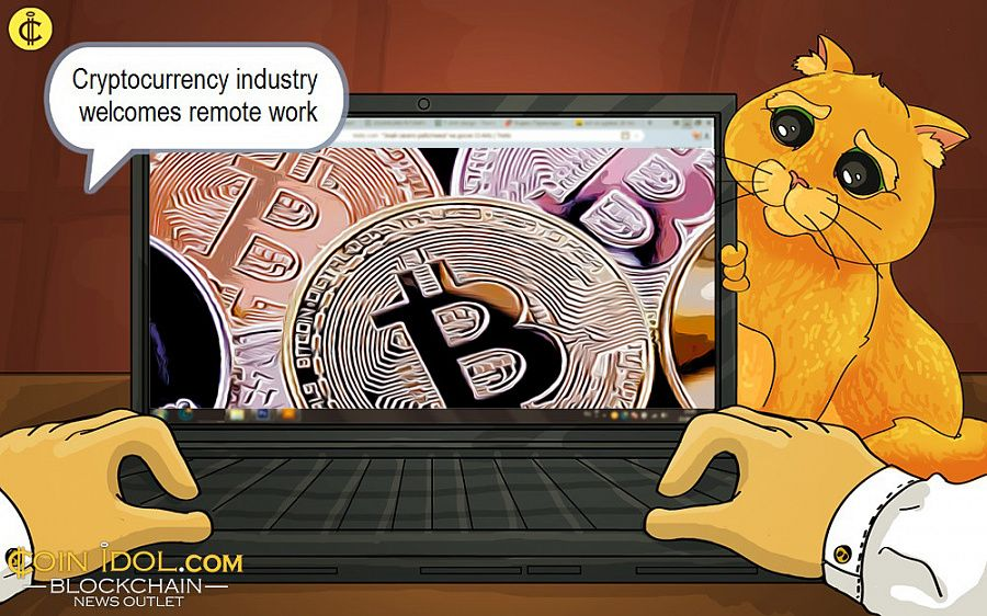 Cryptocurrency industry welcomes remote work