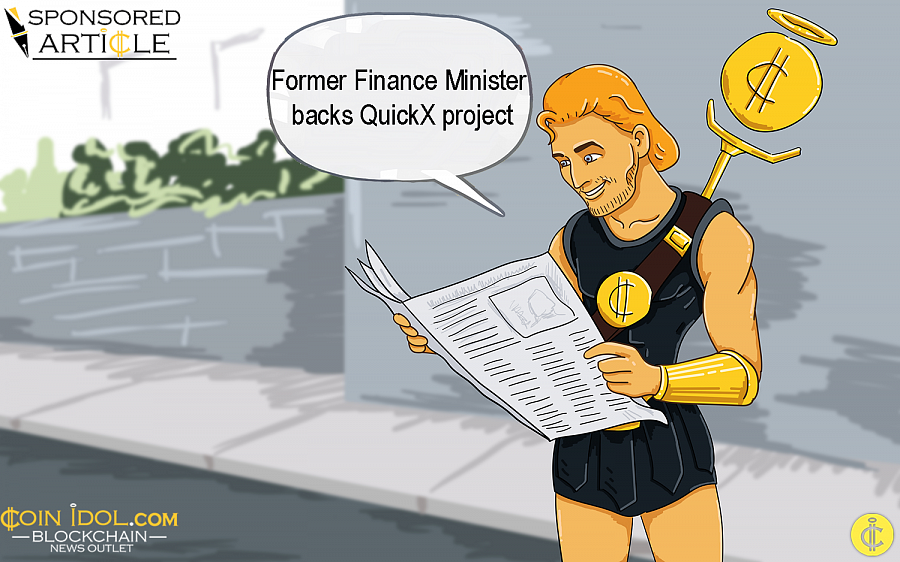 And now, we have a token sale on the QuickX project, which is backed by the  recently former cabinet minister of Malta.