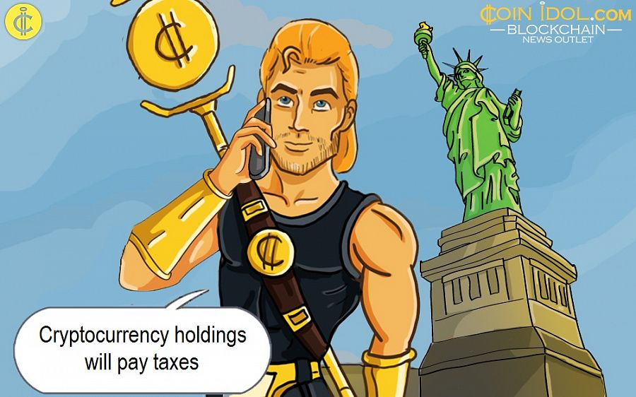 Cryptocurrency holdings will pay taxes