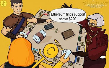 Ethereum Plunges below Price Range, Finds Support above $220