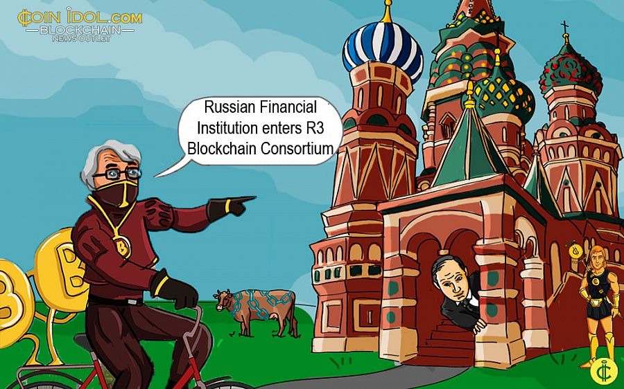 Russian Financial Institution enters R3 Blockchain Consortium
