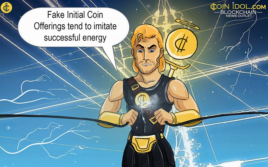 Fake initial coin offerings tend to imitate successful energy companies