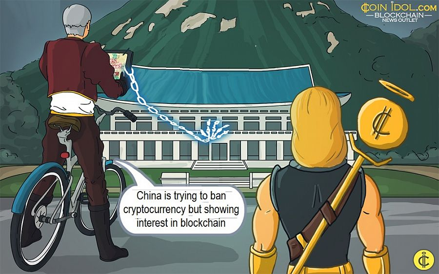 China is trying to ban cryptocurrency but showing interest in blockchain