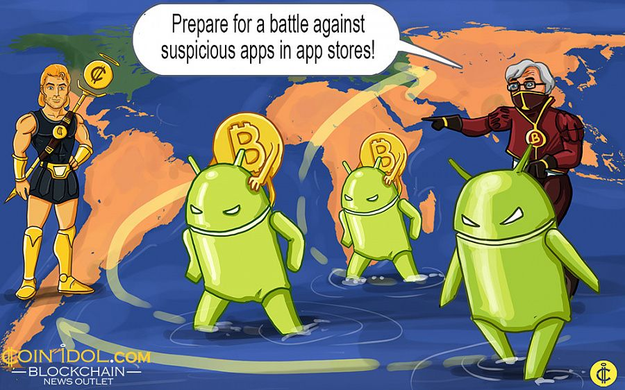 Major app stores are hosting blacklisted bitcoin apps