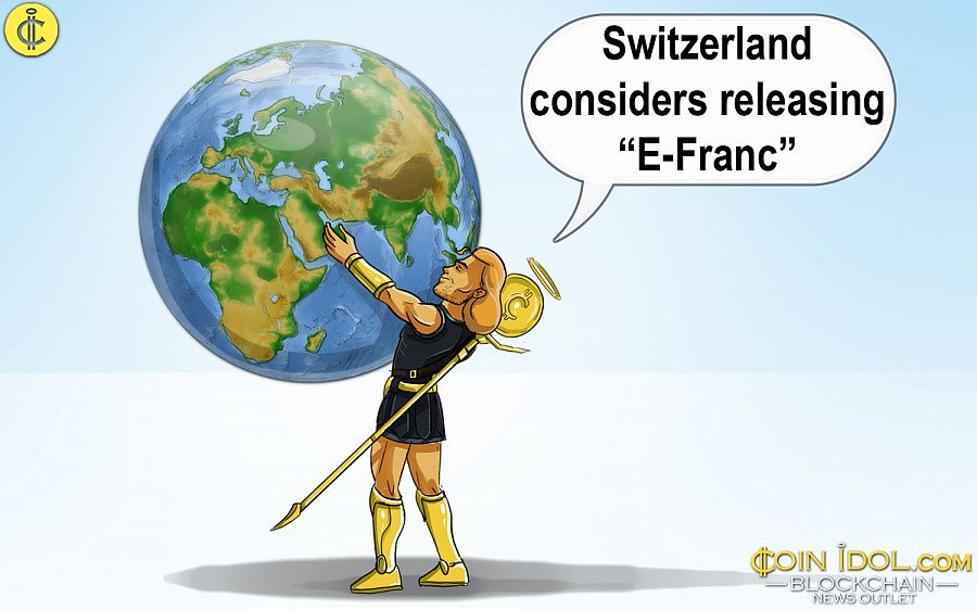 Switzerland considers releasing cryptocurrency